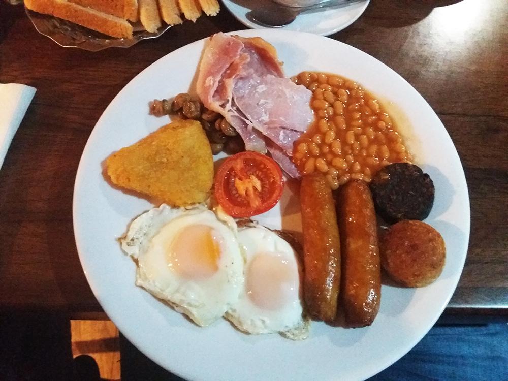 Traditioneel Iers ontbijtje