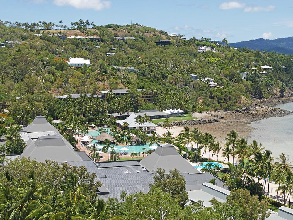 Het uitzicht vanaf ons balkon maar dan verder ingezoomd