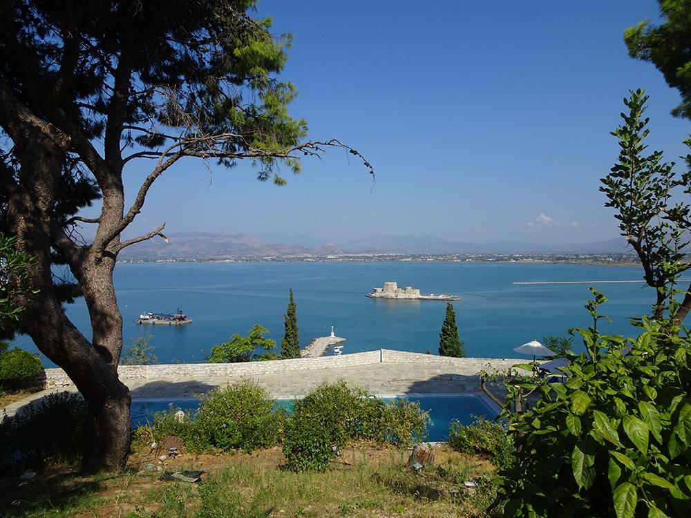 Uitzicht vanuit het fort Náuplion