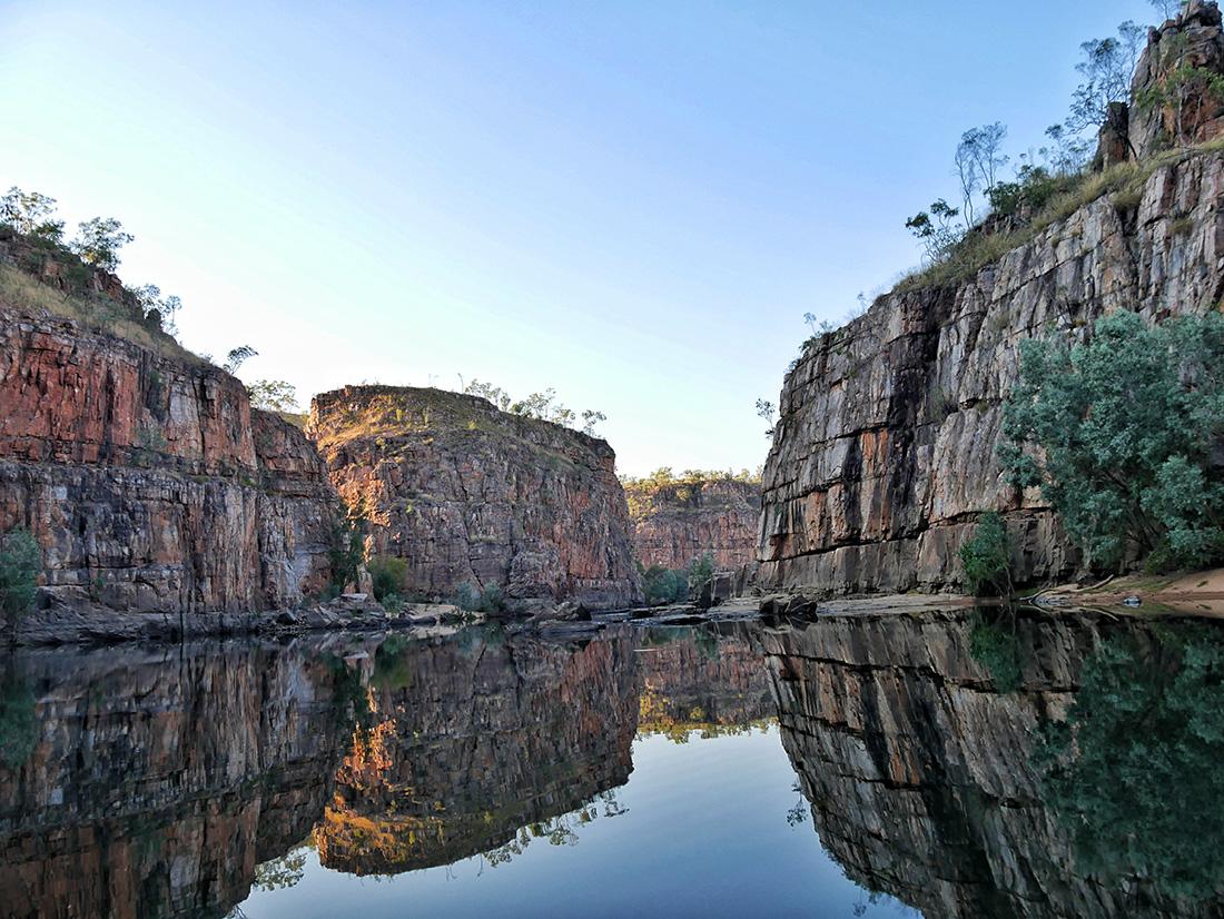 Nitmiluk National Park - Het landschap van Nitmiluk in spiegelbeeld
