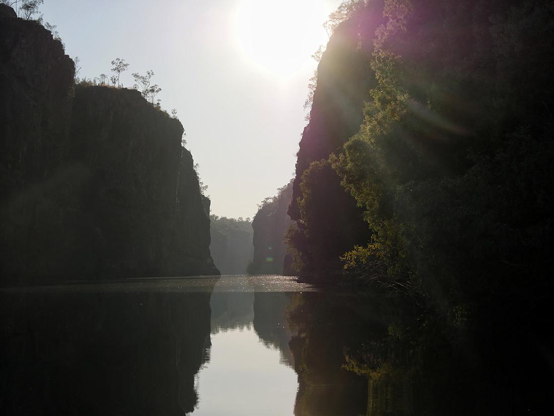 Nitmiluk National Park - De smalste doorgang tijdens de tour