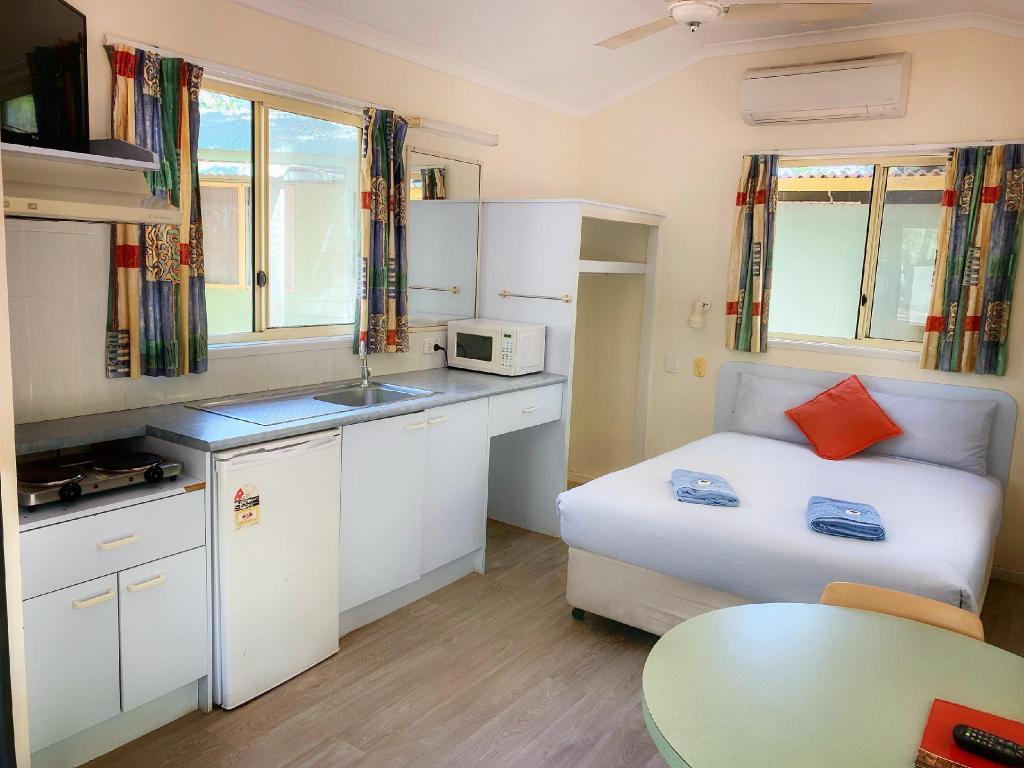 Een bungalow van Knotts Crossing Resort