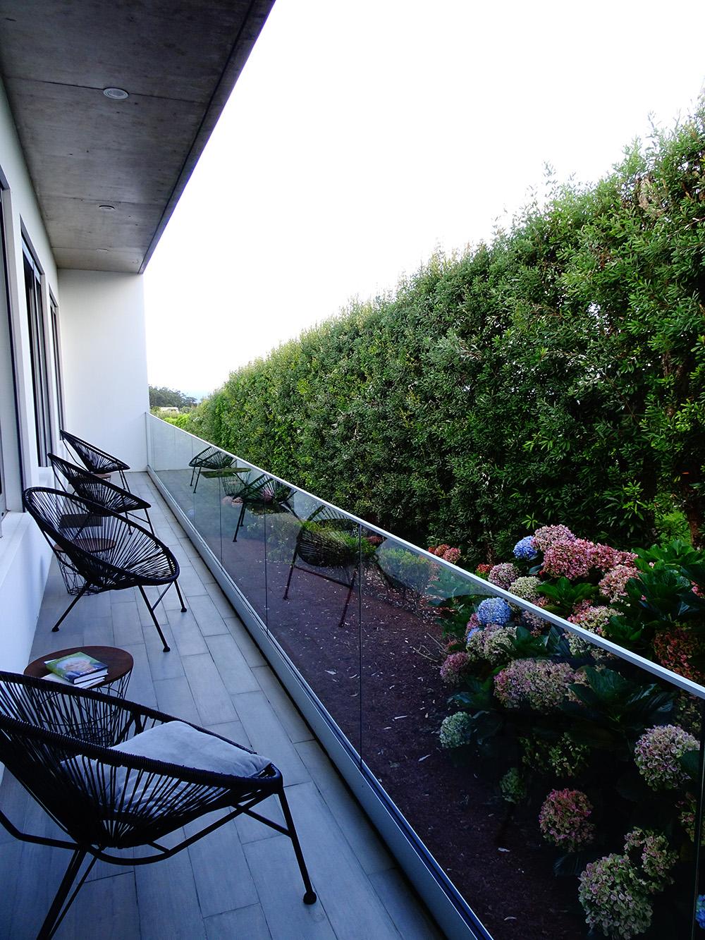 Een van de terrassen van de quinta
