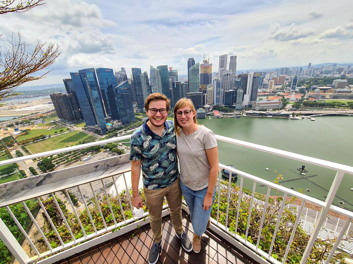 Karin & Willem wonen in Singapore